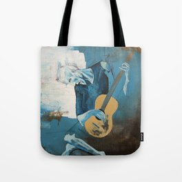 Old Guitarist (a Picasso study) Tote Bag