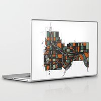 cities Laptop & iPad Skins featuring Twin Cities by BigRedSharks