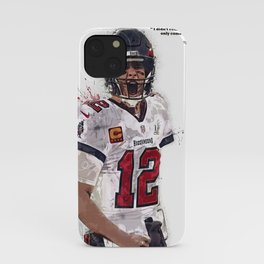 Tom Brady canvas, Tam-pa Bay Buccaneers poster for Wall Decor, Gym, Home Living, Bedroom, Office Decorations,print, mancave, splash paint iPhone Case
