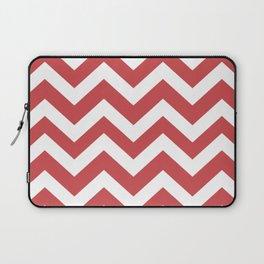 English vermillion - pink color -  Zigzag Chevron Pattern Laptop Sleeve