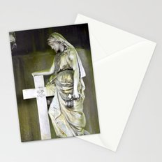 Green angel Stationery Cards
