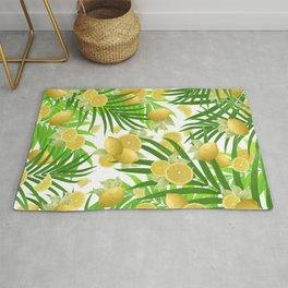 Summer Lemon Twist Jungle #2 #tropical #decor #art #society6 Rug