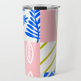 spring leaf patchwork Travel Mug