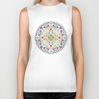 circle Biker Tanks featuring Circle by Liz Slome