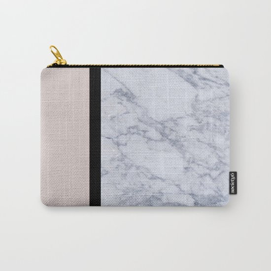 Modern minimalist blush marble Carry-All Pouch