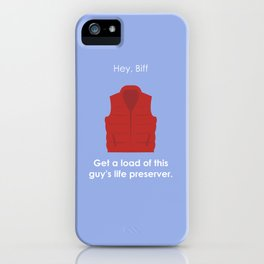 Back to the Future - Life Preserver iPhone Case