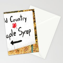 Maple Syrup Rustic Sign Stationery Cards