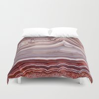 minerals Duvet Covers featuring Agate Crystal by Santo Sagese