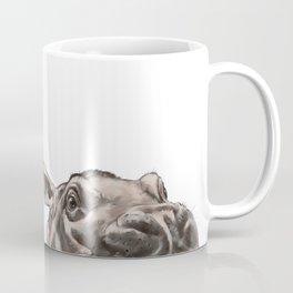 Peeking Baby Hippo Coffee Mug