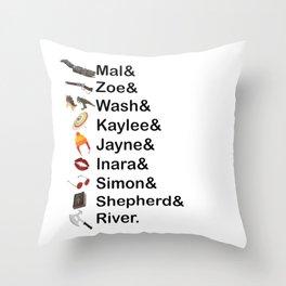 Firefly Names Throw Pillow