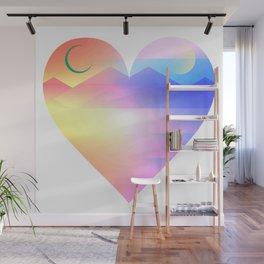 Sunset Heart Wall Mural