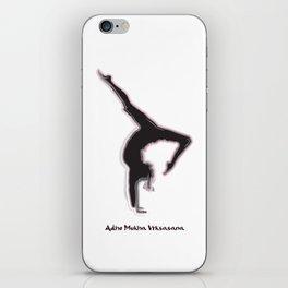 Yoga Series - Adho Mukha Vrksasana iPhone Skin
