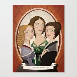 The Bronte sisters Canvas Print