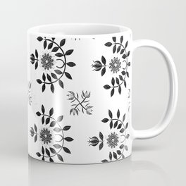 Floral Prairie White and Black Accents Coffee Mug