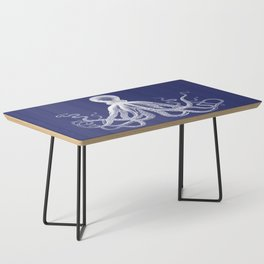 Octopus | Navy Blue and White Coffee Table