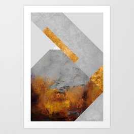Modern Mountain No6-P1 Art Print