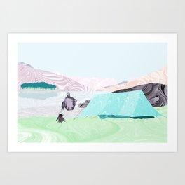 Morning Coffee at Loch Clunie Art Print