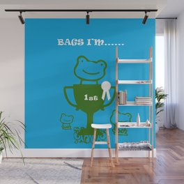 Little Frog- bags I'm first Wall Mural