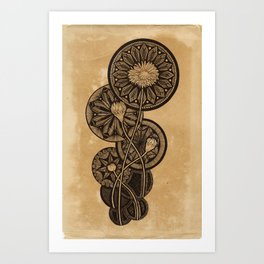 Radial Blooms Art Print