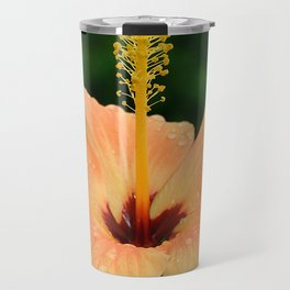 Peach Hibiscus Travel Mug