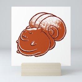 Fat Squirrel Cinnamon Bun Mini Art Print