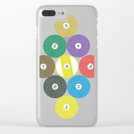 The billiard balls ar Clear iPhone Case