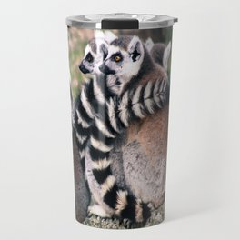 Ring Tailed Lemurs in Portugal - by Cheryl Gerhard Travel Mug