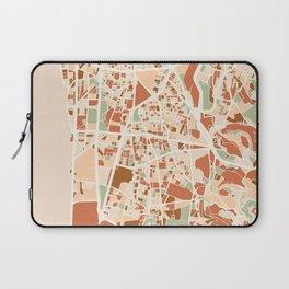 BEIRUT LEBANON CITY MAP EARTH TONES Laptop Sleeve