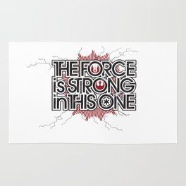 The Force is strong in this one Rug