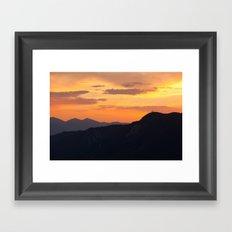 Mountain Sunset III (Big Bear Lake, California) Framed Art Print