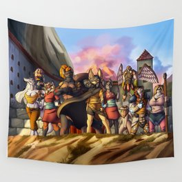 Menacing defense Wall Tapestry