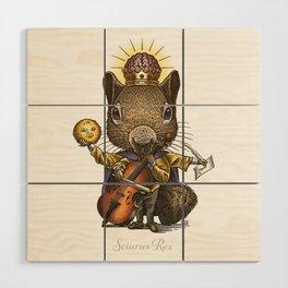 King of Squirrels Wood Wall Art