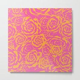 Succulent Stamp - Pink & Orange #315 Metal Print