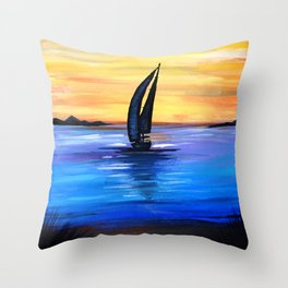 Sail Away Throw Pillow