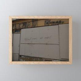 l'amour est mmort Framed Mini Art Print