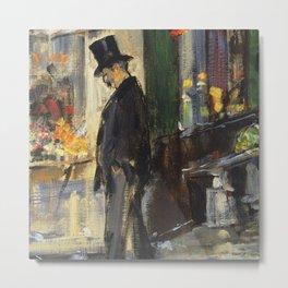 "Édouard Manet ""Walker (Promeneur)"" Metal Print"