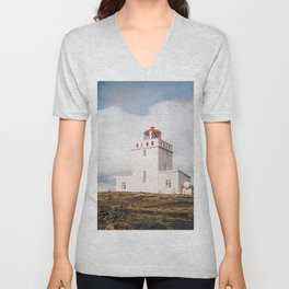 Dyrhólaey Lighthouse Unisex V-Neck