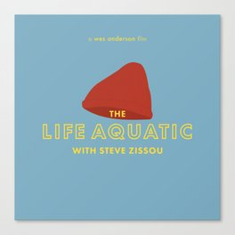 The Life Aquatic with Steve Zissou Beanie Poster Canvas Print