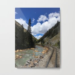 Colorado By Rail - Las Animas River Metal Print