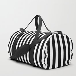 Small Black and White Football / Soccer Referee Stripes Duffle Bag