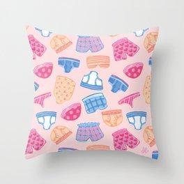 Underwear Pattern Throw Pillow