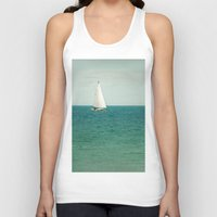 sail Tank Tops featuring Minty Sail by Pure Nature Photos