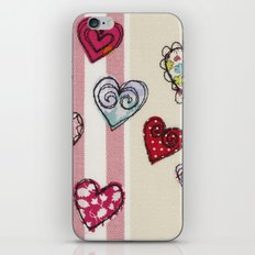 Embroidered Heart Illustration iPhone & iPod Skin