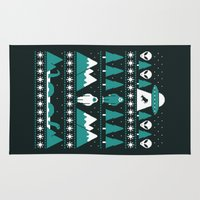 xmas Area & Throw Rugs featuring Paranormal Xmas by Teo Zirinis