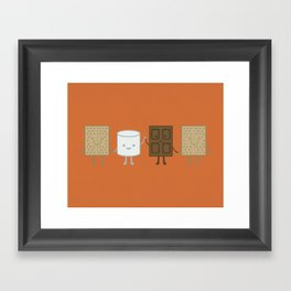Life is S'more Fun Together Framed Art Print