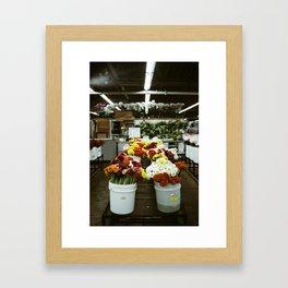 Flower Market | DTLA IV Framed Art Print