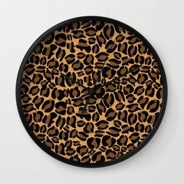 Leopard Print | Cheetah texture pattern Wall Clock