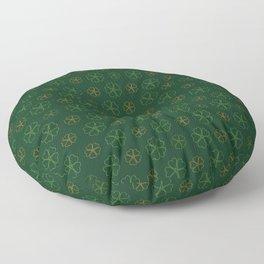 SHOWERING CLOVERS: GREEN / ORANGE Floor Pillow