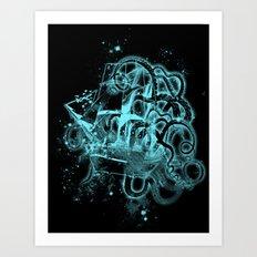 flying dutchman ghost ship Art Print