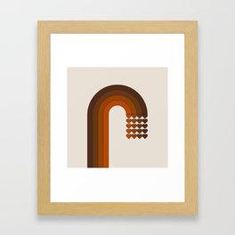 Cocoa Sweetheart Rainbow Framed Art Print